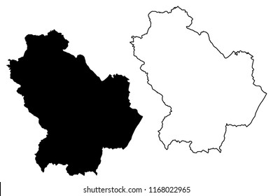 Basilicata (Autonomous region of Italy) map vector illustration, scribble sketch Basilicata map