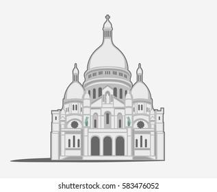Basilique du Sacre-Coeur de Montmartre in Paris