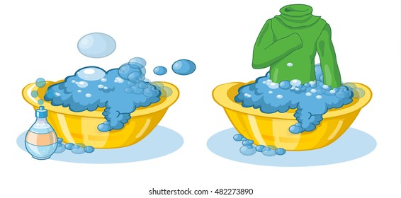 Wash Clothes By Hand Images Stock Photos Vectors Shutterstock