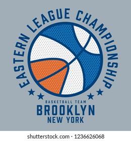Basket ball athletic sport typography, tee shirt graphics, vectors