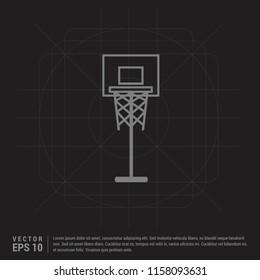 basket ball court icon