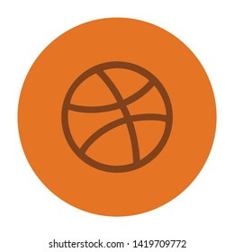 basket ball icon. flat illustration of basket ball vector icon for web