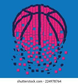 Basket ball illustration , t-shirt graphics, sport