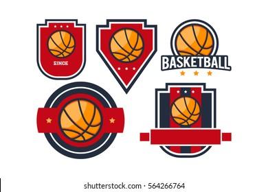 Basket ball Logo Emblem set