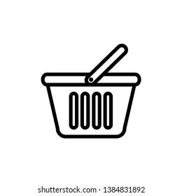 basket case illustration icon design template