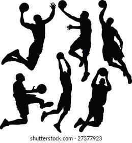 basket, dunk, vector
