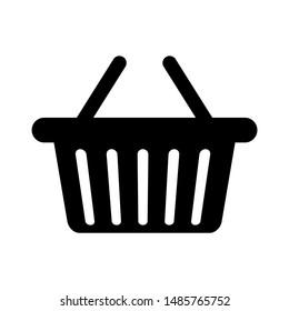 Basket flat vector icon. Buy flat vector icon. Market flat vector icon