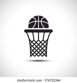 Basket Flat Vector Icon. Sport Vector Illustration. Basketball Icon.