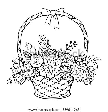 Black And White Flower Basket Free Download Oasis Dl Co