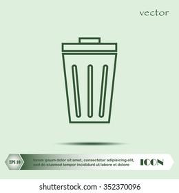 basket icon. vector