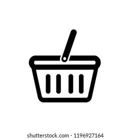 Basket icon, vector illustration. Flat design style. Vector basket icon illustration isolated on white background, basket icon Eps10. basket icons graphic design vector symbols.