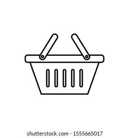 Basket icon, vector illustration. Flat design style. Vector basket icon illustration isolated on white background, graphic design vector symbols.