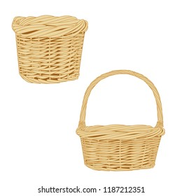 The basket isolated on a white background. Vector illustration.