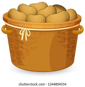 A basket of potato illustration
