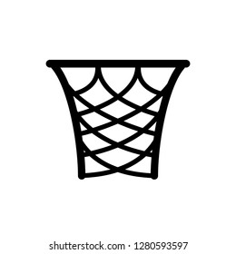 Basket Ring Icon Vector Illustration Sign & Symbol Logo Template.