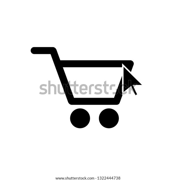 Basket Store Icon Line Icon Shopping Stock Vector (Royalty