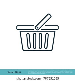 Basket Store Icon Vector Logo Template
