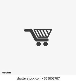 basket trolley vector