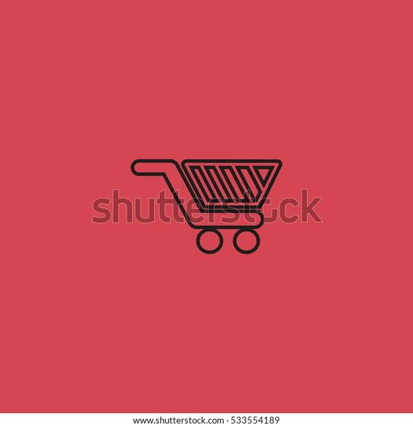 basket, trolley, vector
