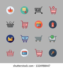 basket vector icon set