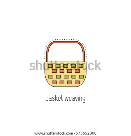 Basket weaving vector thin line icon stock vector royalty free basket weaving vector thin line icon isolated symbol logo template element for business maxwellsz