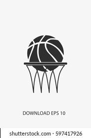 Basketbal icon, Vector