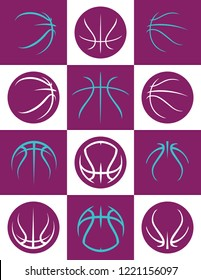 Basketball Abstract Laces