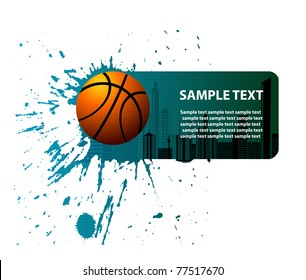 basketball advertising banner