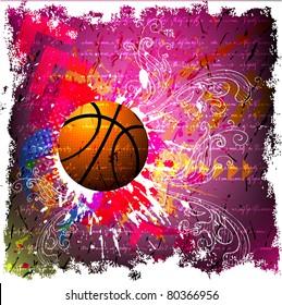basketball advertising poster.
