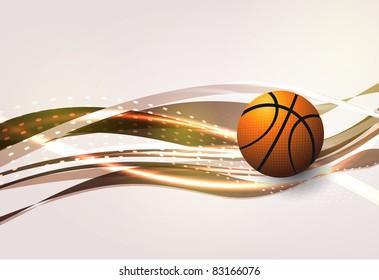Basketball Advertising poster. Vector illustration