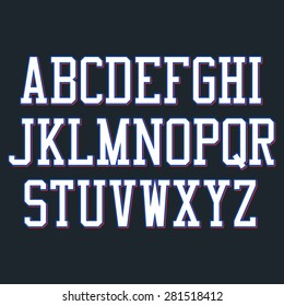 Basketball Alphabet set. Vector illustration