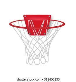 basketball backboard. vector illustration