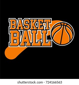 basketball badge logo yellow color with black background
