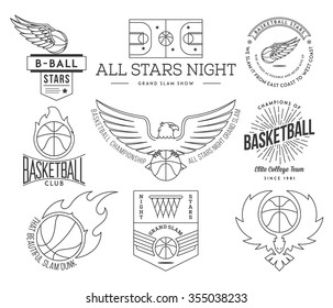 Basketball badges and crests for any use