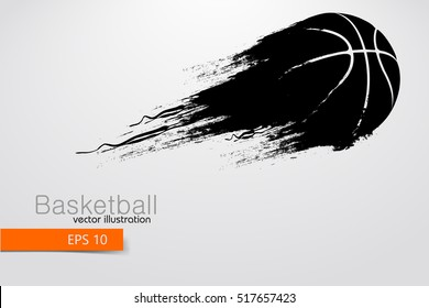 Basketball ball. Background and text on a separate layer, color can be changed in one click