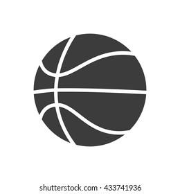 Basketball ball icon. Flat vector illustration in black on white background. EPS 10