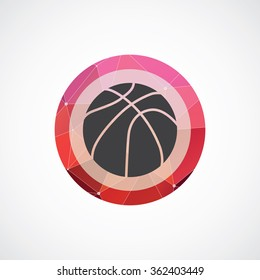 basketball ball icon on white background