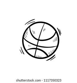 basketball ball icon vector doodle