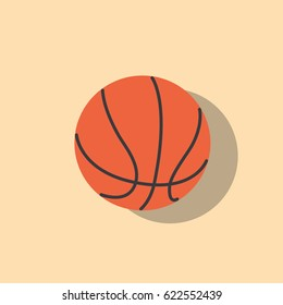Basketball ball icon, vector illustration design. Sport objects collection.
