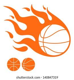 Basketball ball. Isolated icons on white background