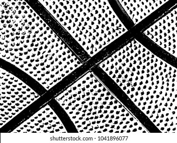 Basketball ball leather background with lines, vector illustration