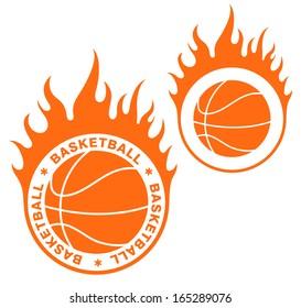 Basketball ball. Logo. Vector illustration