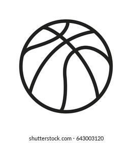 Basketball Ball Minimal Flat Line Outline Stroke Icon Pictogram Symbol