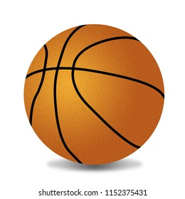 Basketball ball on white background, vector illustration