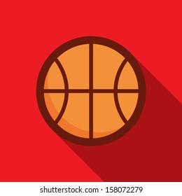 Basketball ball retro poster, sport and recreation concept
