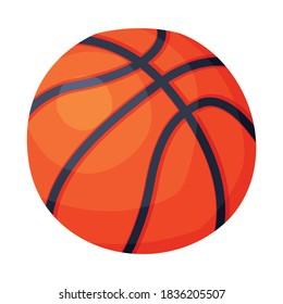 Basketball Ball Sport Equipment Vector Illustration on White Background