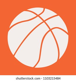 Basketball ball vector clean  logo brand white  lines orange transparent