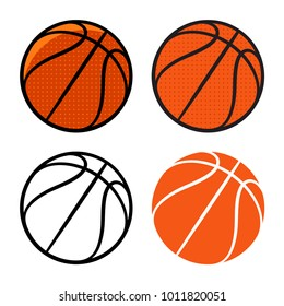 Basketball ball. Vector illustration. Basketball icon