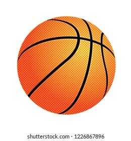 Basketball ball. vector illustration isolated on white background.