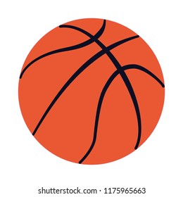 Basketball ball vector isolated simple clean design logo black normal lines orange white